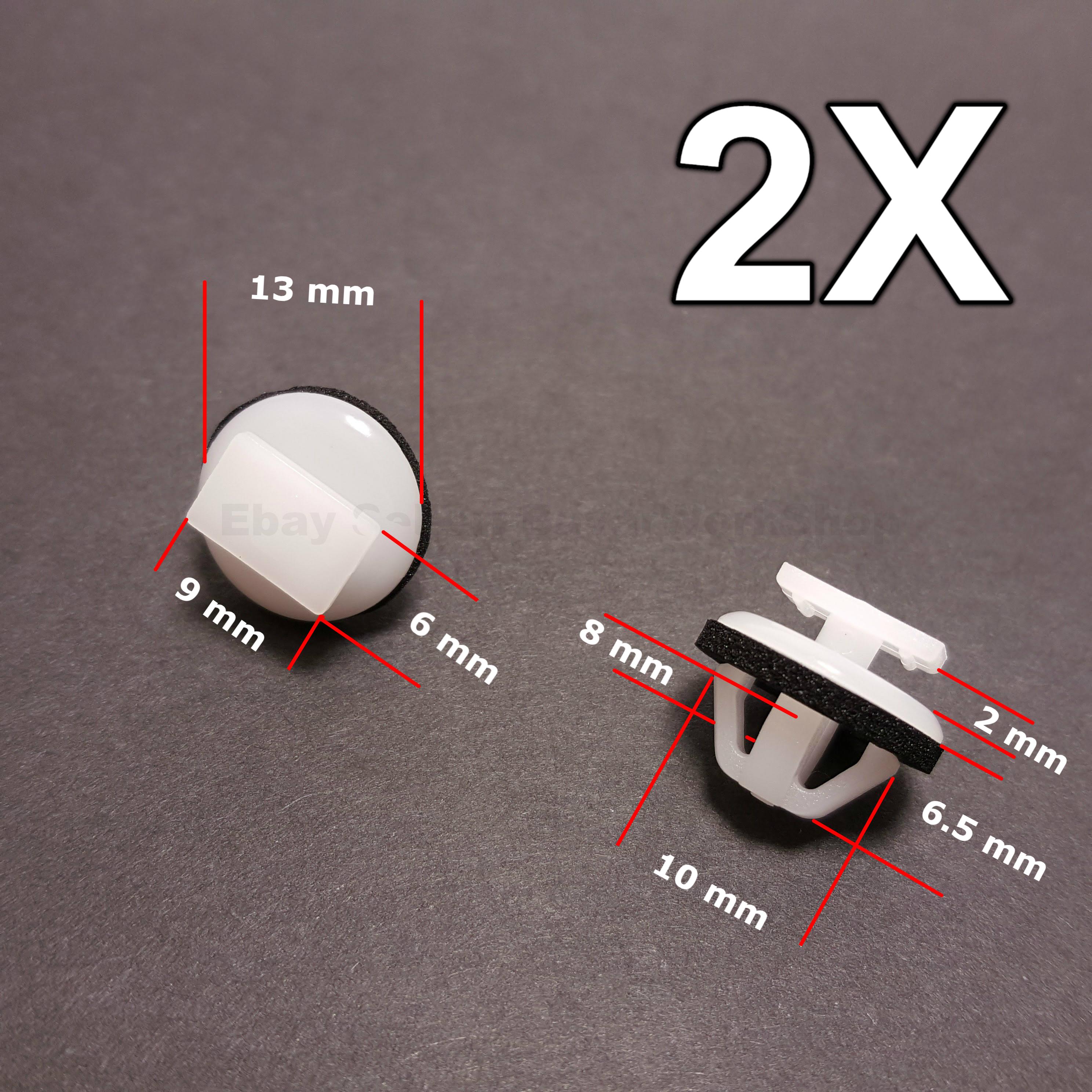 5x Clips To Fit Nissan Door Sill Strip Rocker Panel Side Skirt Trim Moulding