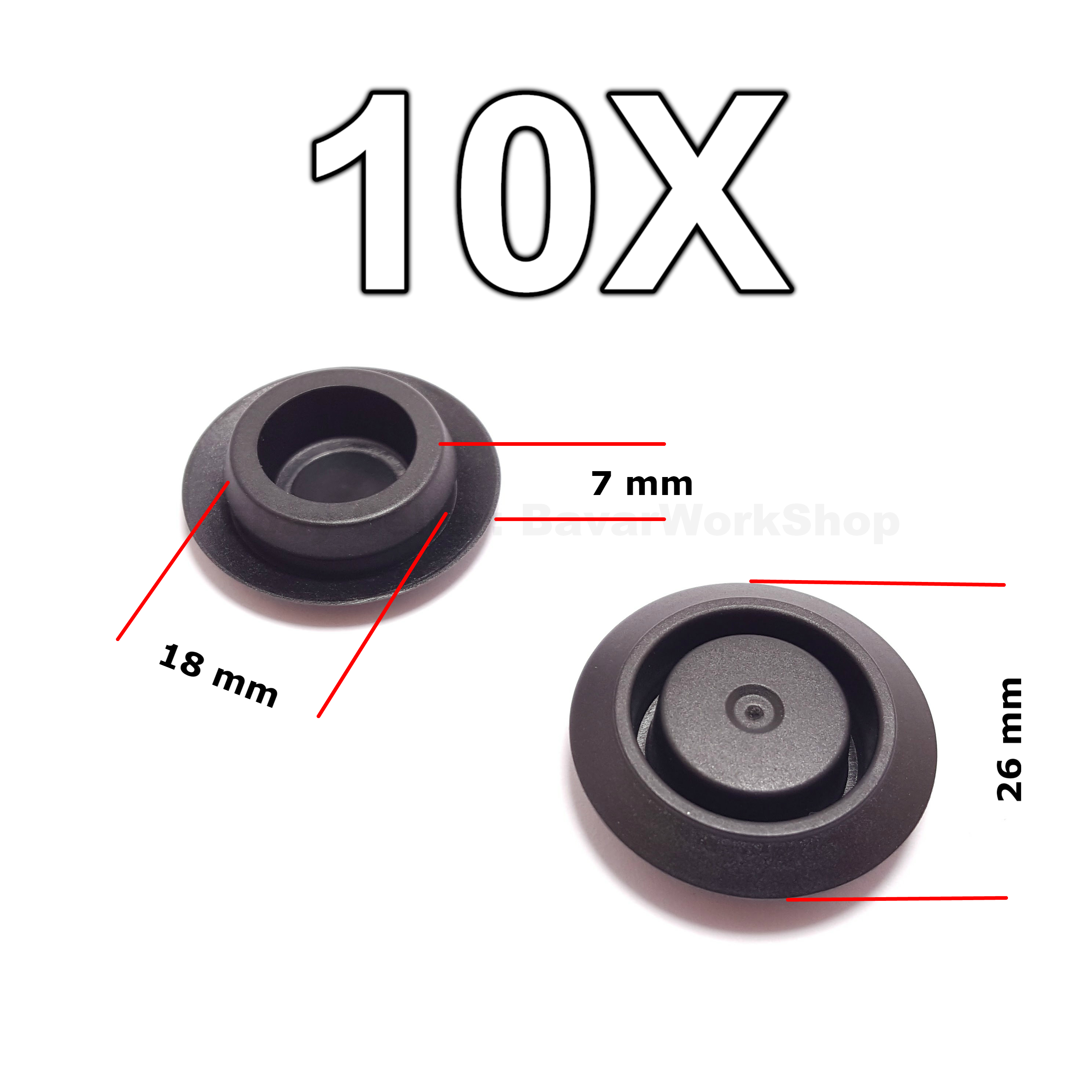 10X Hole Blanking Plugs Grommets Door Lock Fixing Hole Caps for Nissan