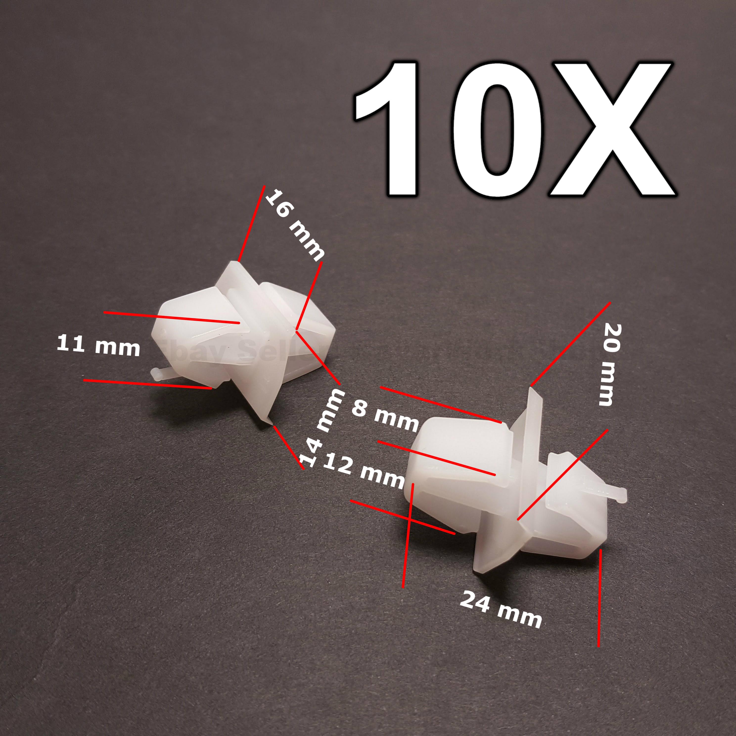 10x Honda Kunststoffverkleidung Clips für Außentür Leisten Seitenverkleidung /&