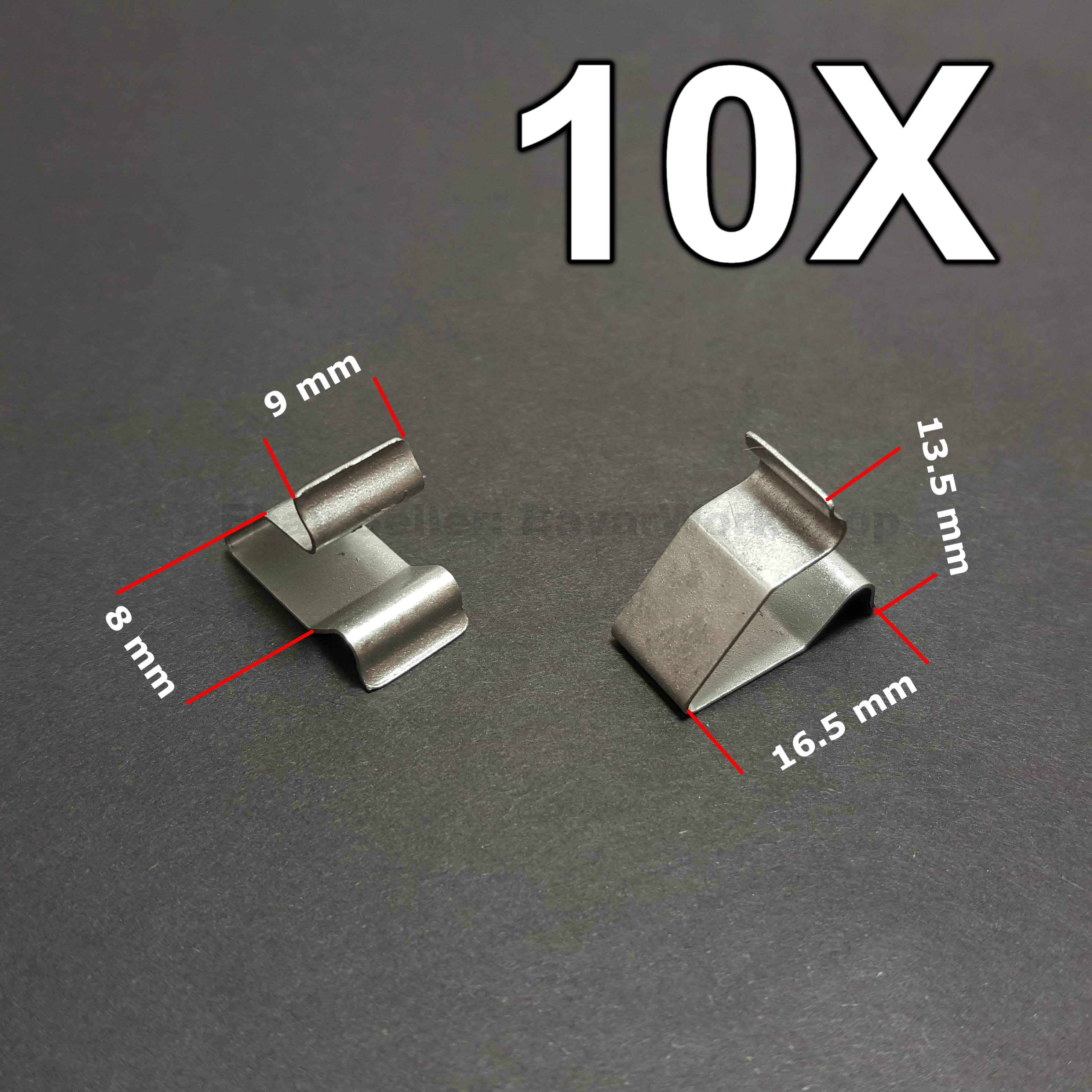 clips for VW Seat Skoda 10X Metal Mount Brackets Clamps Audi