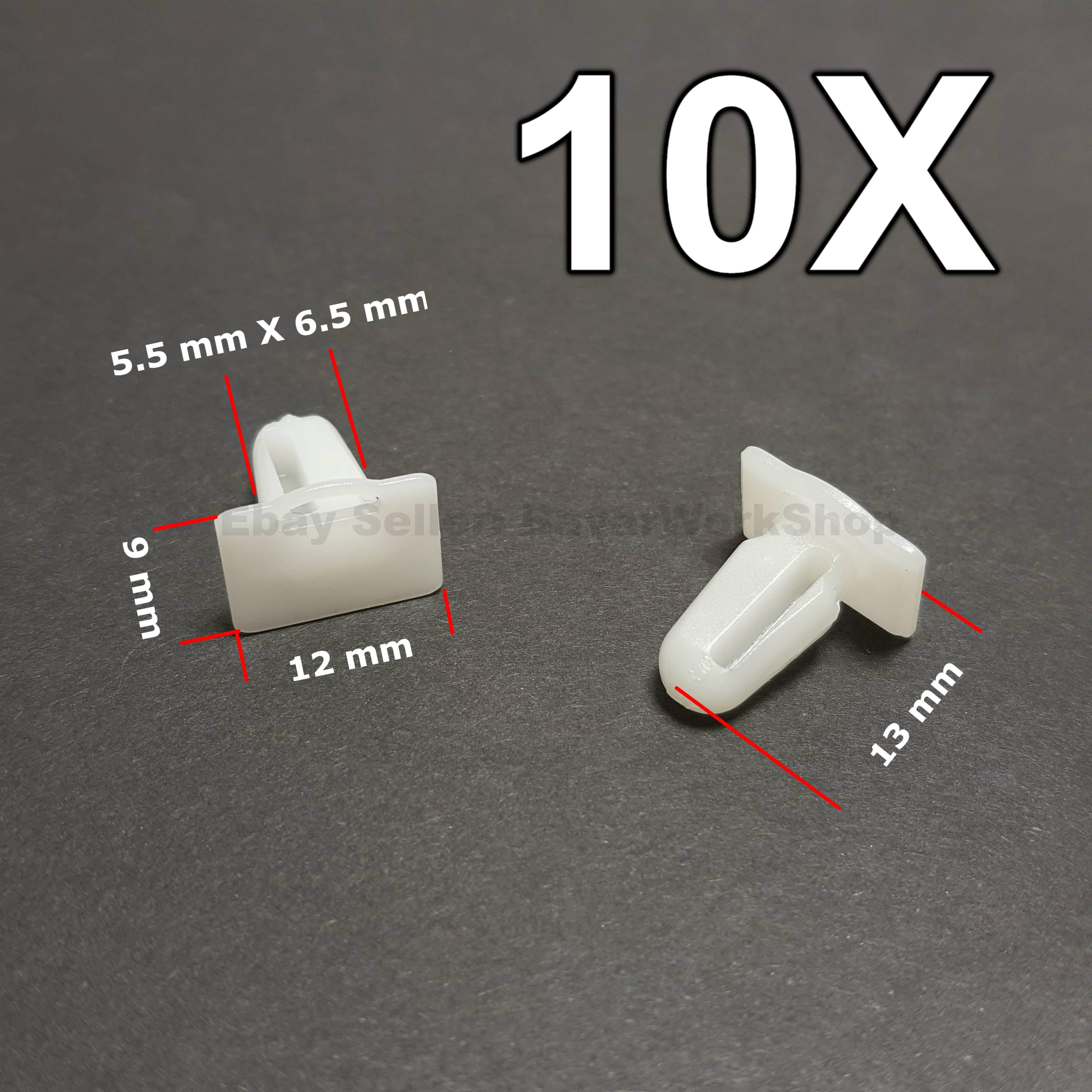 10x Clips Door Sill Edge Protection Door Threshold for BMW 51471840960