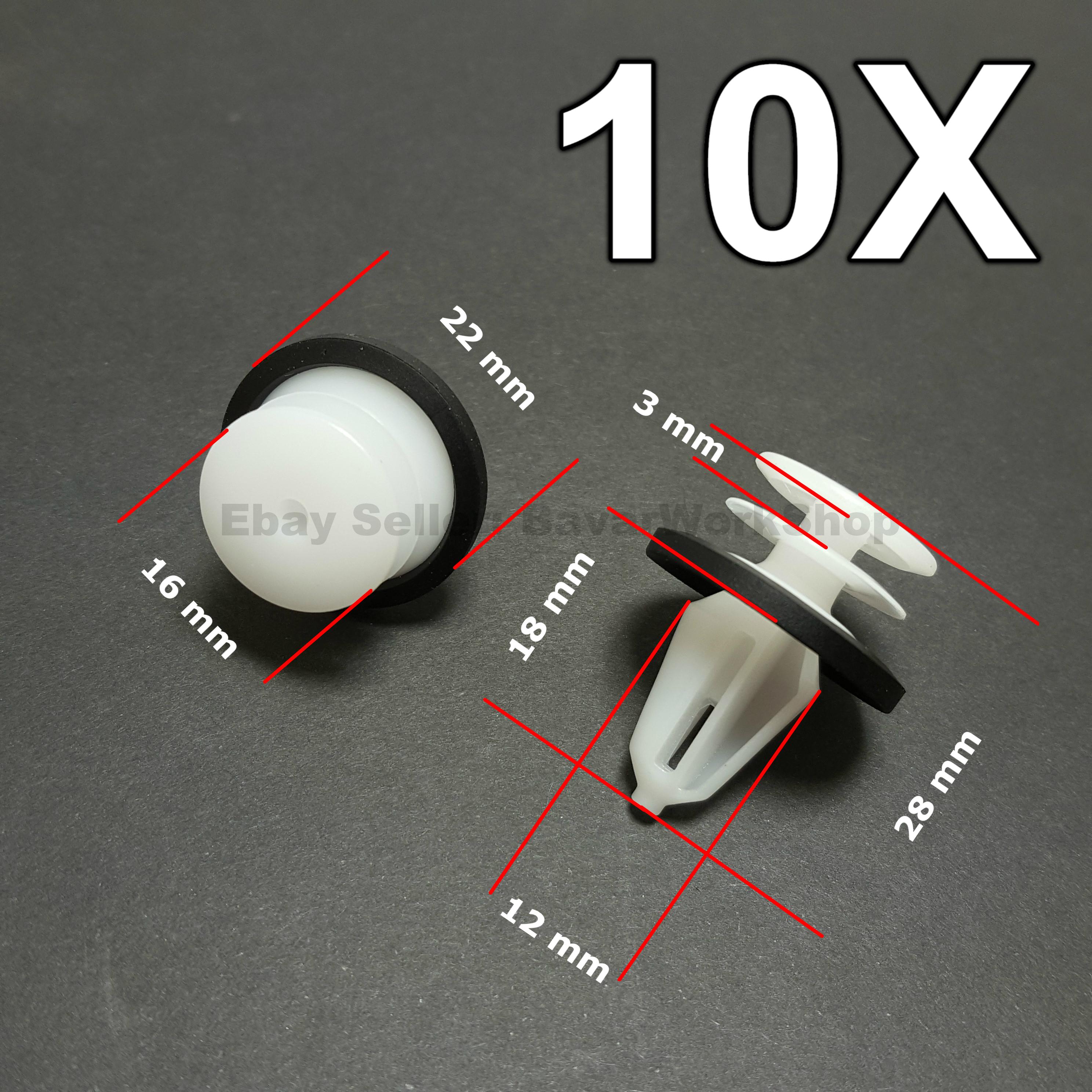 10X Front /& Rear Door Panel /& Door Card Plastic Trim Clips Fastener for VW Seat